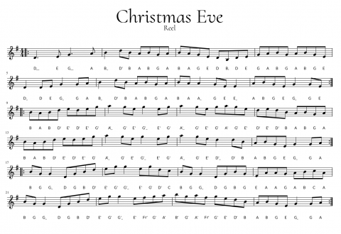 Image Showing Notation for Reel Christmas Eve