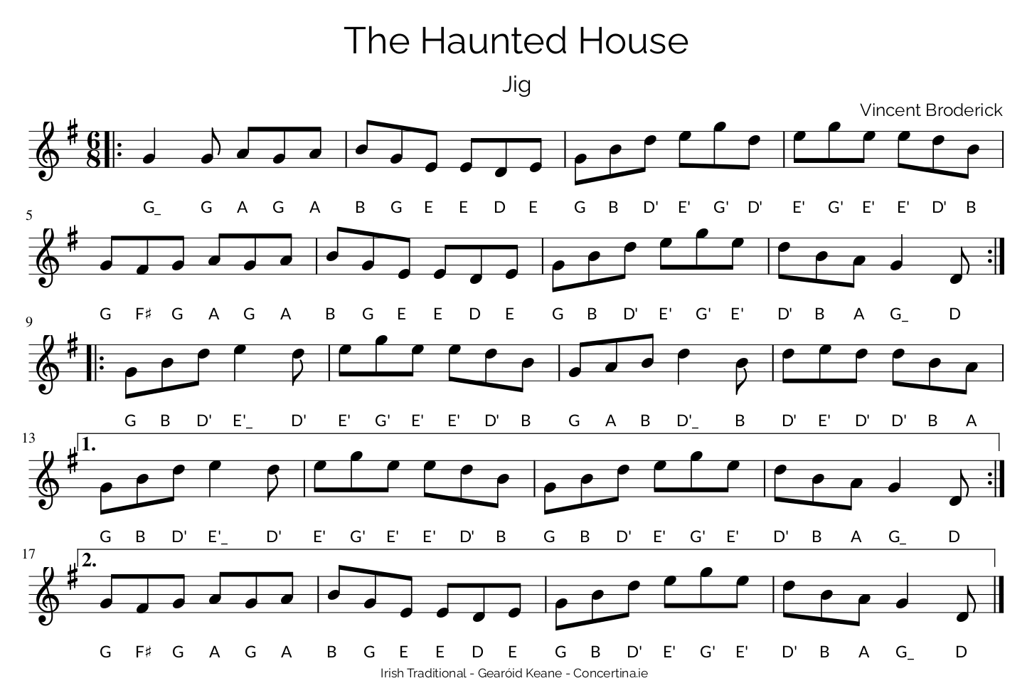 The Haunted House Notation